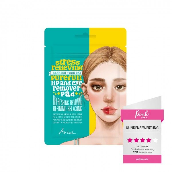 Stress Relieving Purefull Lip and Eye Remover Pad 10Sheets